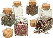 MamboCat 6er Set Teegläser I 200 ml I Eckiges