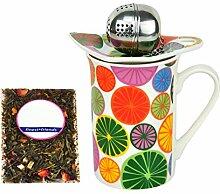 MamboCat Becher mit Tee-Ei & Teebeutelablage in