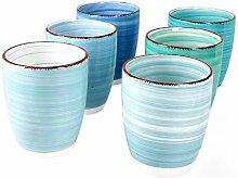 MamboCat Blue Baita 6-er Kaffee-Becher-Set blau I
