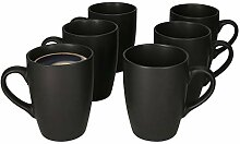 MamboCat Lampart Nero 6er Kaffeebecher-Set schwarz