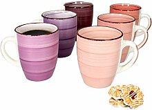 MamboCat Lila Baita 6-er Kaffee-Becher-Set I