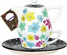MamboCat Tea for one Keramik Dekor Streublumen