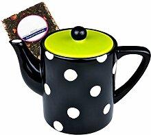 MamboCat Teekanne im Retro Design mit Punkte Dekor