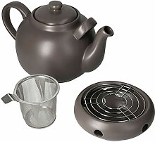 MamboCat Teekanne mit Stövchen & Sieb-Einsatz I