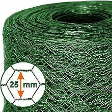 Mammut® Drahtzaun / Sechskant-Geflecht   Maschenweite 25 mm   Gartenzaun   Länge und Höhe wählbar