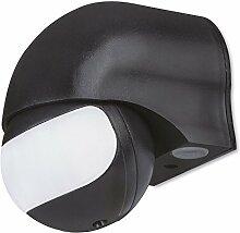 MANAX IMS011 Infrarot-Bewegungsmelder – Innen- / Außenmontage, schwarz, Schutzklasse: IP44, 180° / 12m Arbeitsfeld
