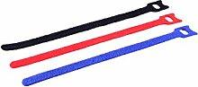 MANAX® Klett Verbinder Kabelbinder 3-farbig 20,0 cm (24 Stück)