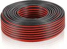 Manax Lautsprecherkabel CCA 2x1,5mm² rot/schwarz 25 M Ring, 1 Stück, 1,5mm r/s 25m