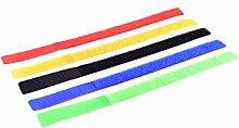 MANAX® Nylon Klettverbinder Streifen farbig (20 Stück)