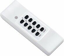 Manax RCS220 Funksteckdosen mit LED-Indikator Funkfernbedienung, 4-Kanal (1x Fernbedienung), Reichweite 30 m, Innenraum, weiß