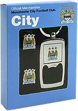 Manchester City F.C. Manschettenknöpfe & Schlüsselanhänger-Kapselheber Se
