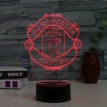 Manchester United FC.USB 3D-Farbwechsel-Illusion,