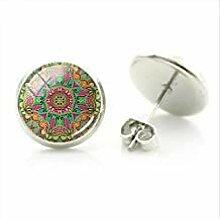 Mandala-Blumen-Ohrringe, modisch, marokko-Stil,