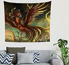 Mandala Fantasie Phönix Lange gelebt Feuervogel