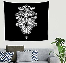 Mandala Jahrgang Nordisch Wikinger Krieger Odin