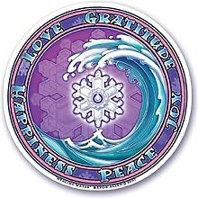 "Mandala Kunst-Fenster-Aufkleber """"Heilendes Wasser"""" Wellen-Abziehbild Mandala Arts Window Sticker """"Healing Water"""" Wave Decal"