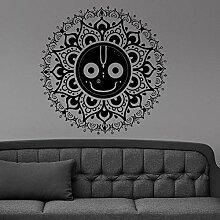 Mandala Lächeln Gesicht Wand Vinyl Aufkleber