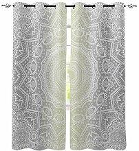 Mandala Muster Gradient Fenster Vorhänge