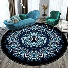 Mandala Muster Rund Teppich Weiche Kurzflorteppich
