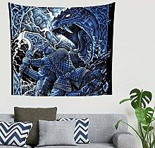 Mandala Vintage Blau Nordisch Wikinger Krieger