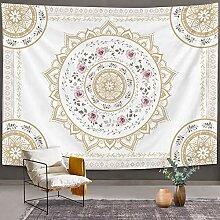 Mandala-Wandteppich mit Mandala-Motiv, indischer