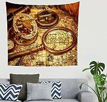 Mandala Weinlese Seepiratenschiff Schatz Kompass