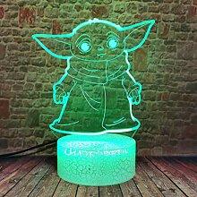 Mandalorian The Child Yoda Baby 3D Illusion LED