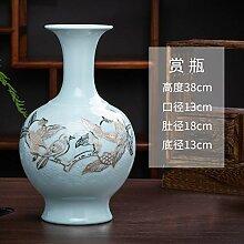 mangege Jingdezhen Keramik handgeschnitzten Gold
