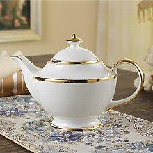 mangege Vintage Bone China Teekanne mit Infuser