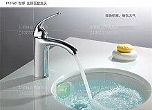 MangeooDer neue Hot Einloch Kupfer Chrom Waschbecken Waschtisch Armatur Waschbecken