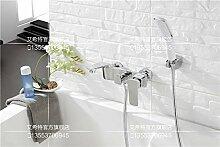 MangeooDie neue Wand Art Kupfer einfache Badewanne Armatur Badewanne Dusche Lack, Chrom