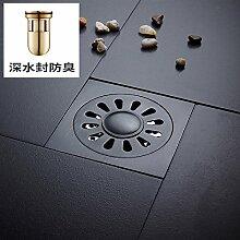 MangeooDunkel Kupfer Bad Badezimmer mit eine verdickte Doppel Abfluss Abfluss, tiefe Wasser Bodenablauf B