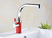 MangeooFarbe Swan Edelstahl Armatur, Waschtisch Armatur, Waschtisch, Einloch Tabelle, Waschbecken Wasserhahn