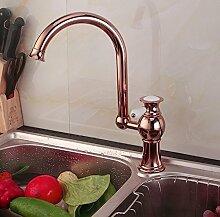 Mangeoo Faucet Im Europäischen Stil Rot Bronze