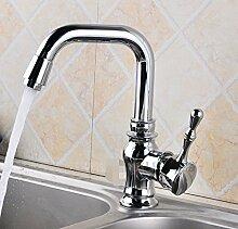 Mangeoo Faucet Kleine Sieben Zeichen, Warmes Und Kaltes Wasser Trog, Hahn Waschbecken, Waschbecken Doppelwaschbecken Wasserhahn
