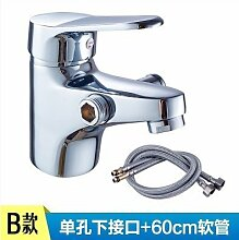 Mangeoo Kupfer Einloch Mischbatterie mit Dusche