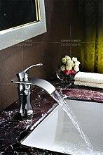 MangeooKupfer kalte Waschbecken Armatur gold Jade Wasserfall, Chrom