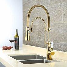 MangeooMessing vergoldet Kitchen Sink Faucet