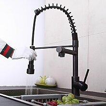 MangeooSchwarz Antik Kupfer Küche Waschbecken mit warmen und kalten Wasserhahn