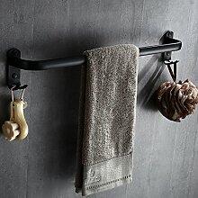 MangeooSchwarz bad Handtuchhalter,