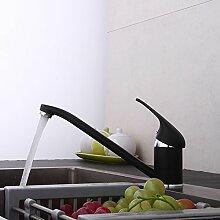 MangeooSchwarze Küche Waschbecken mit warmen