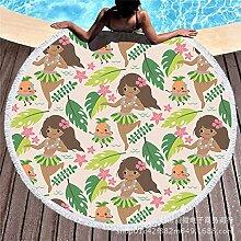 Mangeoo Strandmatte, Strandmatte, Kreisförmige Gedruckt Badetuch, Heißes Wasser Badetuch, 150 * 150 Cm, U