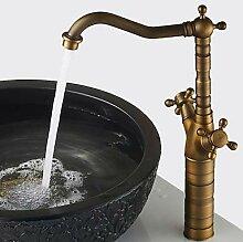 Mangeoo Waschbecken Wasserhahn - Antique Brass