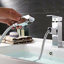 Mangeoo Waschbecken Wasserhahn - Ausziehbarer