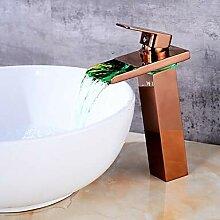 Mangeoo Waschbecken Wasserhahn - Rose Gold