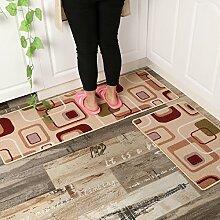 MangeooWasserbad mat Mat mat mat Küche Flur Schlafzimmer Bett decken, 45*80cm (1 Stück), Bunt karierte