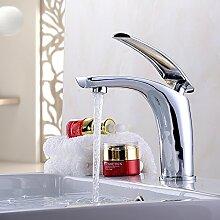 Mangeoo Wasserhahn_Plattierung Kupfer silber weiß Luo Waschbecken Wasserhahn