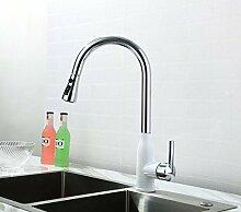 Mangeoo Weiß und Chrom Wasserhahn Waschbecken Waschtisch Armatur Waschbecken wasserhahn Xicai