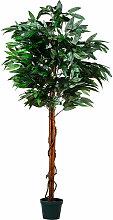 ® Mangobaum, Kunstbaum, Kunstpflanze, 180cm -