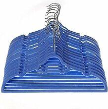 Mangotree Kleiderbügel, aus Samt, für Kinder-Kleidung, geeignet für Babygrößen, ultra-dünn, nicht rutschig, 15er-Packung babyblau